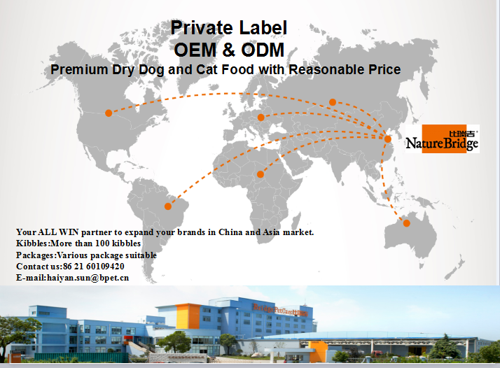 Dry dog and cat food export to many countries