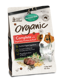 500g Organic Beef and Vegetables Dry Dog Food