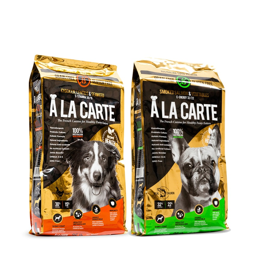 A La Carte Grain Free Golden Range - Super Premium Probiotic Quality