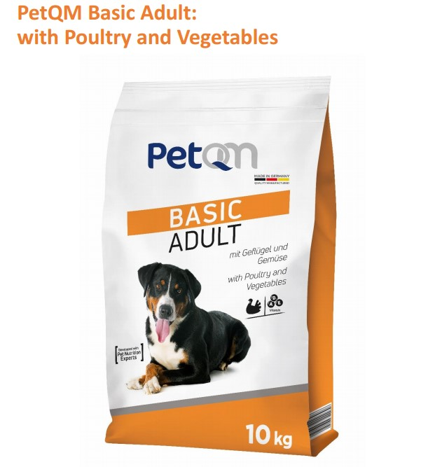 PetQM Basic Adult Dog Food with Poultry and Vegetables
