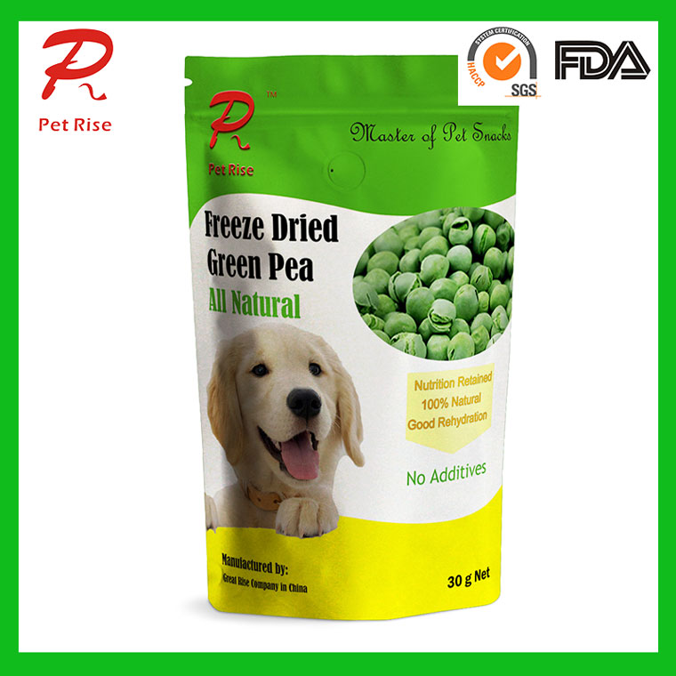 Pet Rise Natural Freeze Dried Green Pea as Dog Snacks