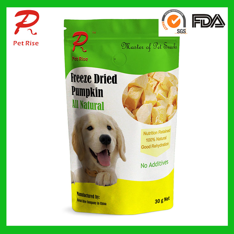 All Nature Freeze Dried Pumpkin Dice as Dog Snacks
